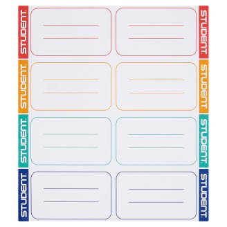 Ico Student School Labels 8 pcs