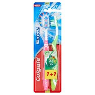 Colgate MaxFresh közepes sörtéjű fogkefe 2 db