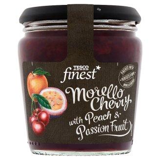 Tesco Finest meggy-őszibarack dzsem maracujalével 340 g