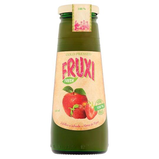 Fruxi Fresh Alma és Eper friss gyümölcsből préselt 100% gyümölcslé 250 ml