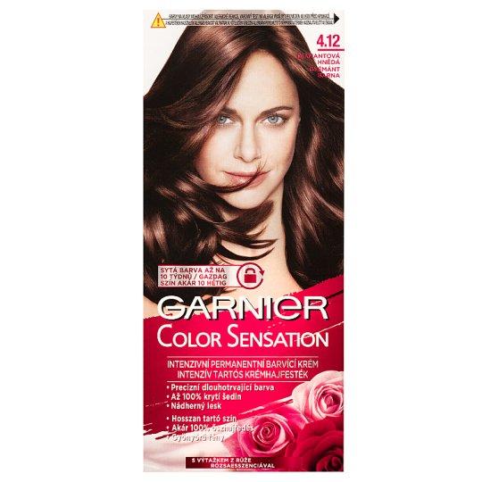 image 1 of Garnier Color Sensation 4.12 Diamond Brown Intensive Permanent Hair Colorant