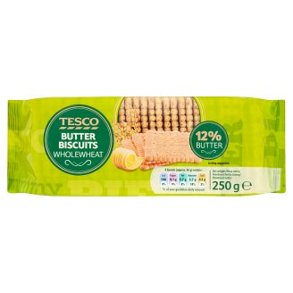 Tesco Wholewheat Butter Biscuits 250 g