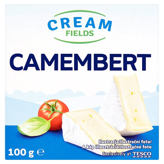 Cream Fields Camembert Aged, Soft, Fat Cheese with White Mold 100 g