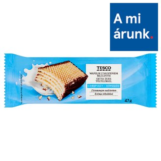 Tesco Crunchy Wafer with Milk Filling 47 g