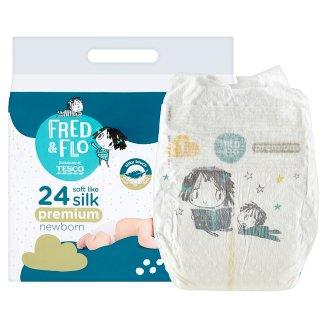 image 2 of Tesco Fred & Flo Premium Newborn 1 New Baby 2-5 kg Nappies 24 pcs