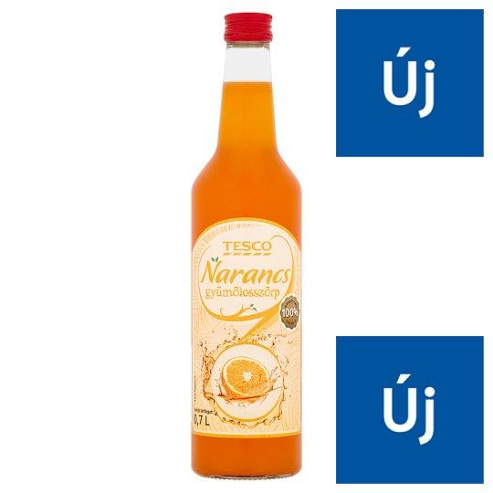 Tesco Orange Fruit Syrup 0,7 l