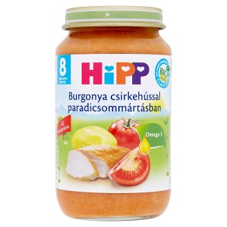 HiPP Organic Gluten- and Dairy-Free Potatoes with Chicken in Tomato Sauce 8+ Months 220 g
