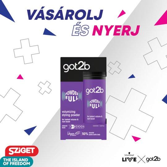 got2b Powder'ful dúsító hajformázó por 10 g