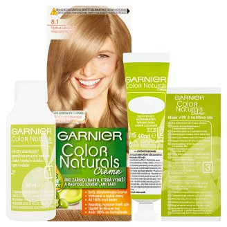 image 2 of Garnier Color Naturals Crème 8.1 Bright Platinum Blonde Nourishing Permanent Hair Colorant