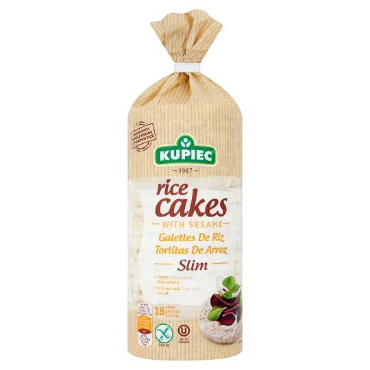 Kupiec Slim gluténmentes puffasztott rizskeksz szezámmal 90 g