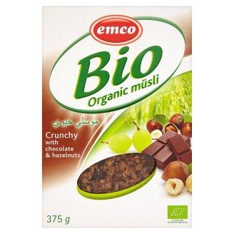 Emco BIO ropogós müzli csokoládéval és mogyoróval 375 g