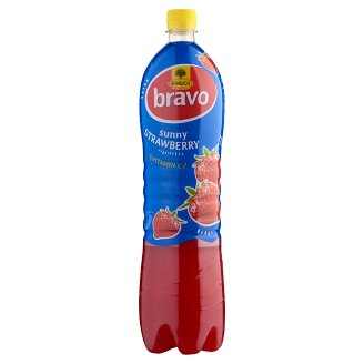 Rauch Bravo Sunny Strawberry Drink with Sugar and Sweeteners and Vitamin C 1,5 l