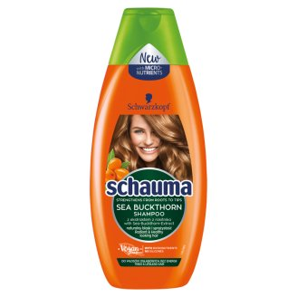 Schauma Vitality Shampoo with Extracts of Sea Buckthorn for Tired Lifeless Hair 400 ml