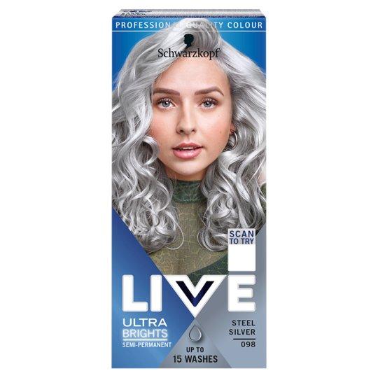 Schwarzkopf Live Ultra Brights 098 Acélos Ezüst hajszínező