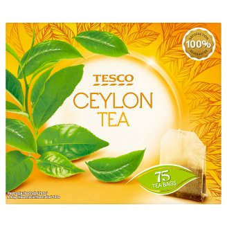Tesco Ceylon Filtered Black Tea 75 Tea Bags 150 g