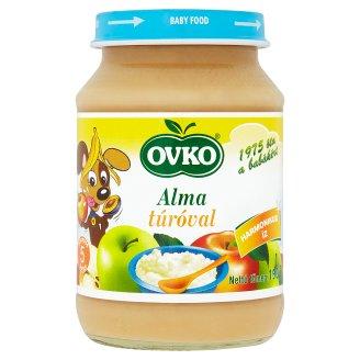 Ovko gluténtartalmú alma túróval bébidesszert 5 hónapos kortól 190 g