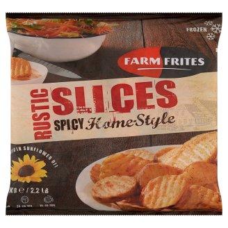 Farm Frites elősütött, gyorsfagyasztott, félkész, fűszeres burgonyaszeletek 1 kg