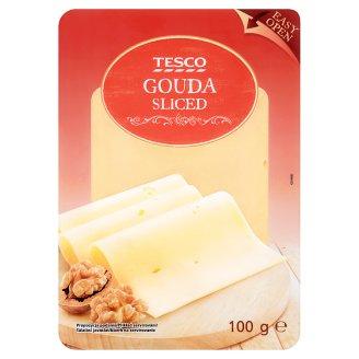 Tesco Fat, Semi-Hard, Sliced Gouda Cheese 100 g