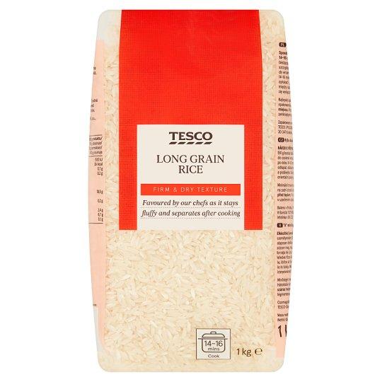 """Tesco """"A"""" Quality Long Grain Rice 1 kg"""
