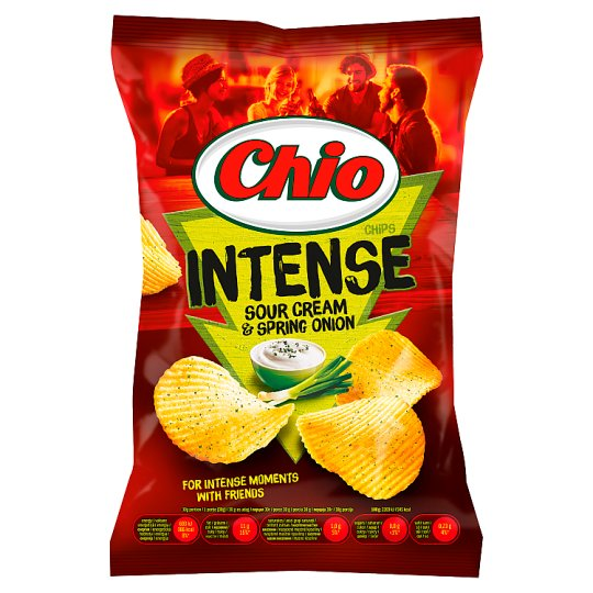 Chio Intense Sour Cream and Spring Onion Flavoured Potato Chips 70 g