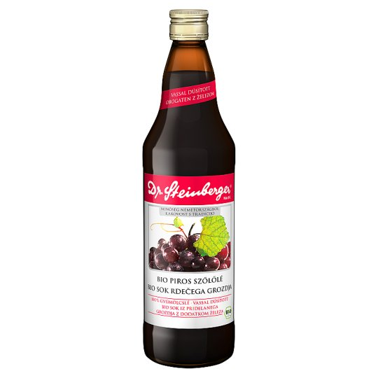 Dr. Steinberger Organic Red Grape Juice with Curry Leaf Extract 750 ml