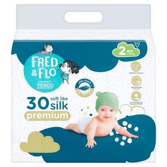 image 1 of Tesco Fred & Flo Premium 2 Mini 3-6 kg Nappies 30 pcs