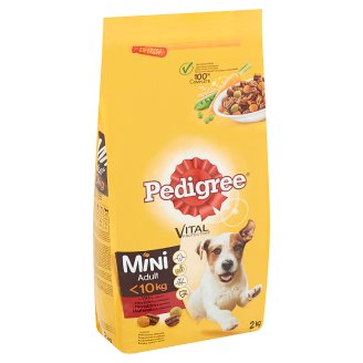 Pedigree Vital Protection Complete Pet Food for Small Adult Dogs with Beef and Vegetables 2 kg