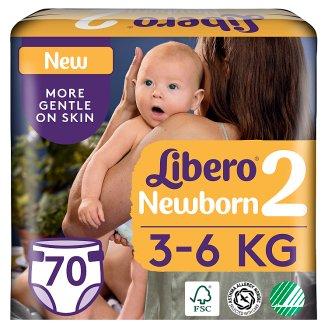 Libero Newborn 2 3-6 kg prémium pelenkanadrág 70 db
