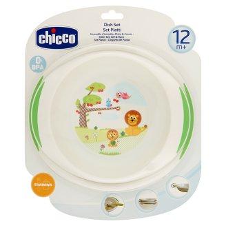 Chicco tányér-szett mély- és lapostányér 12 hónapos kortól 2 db