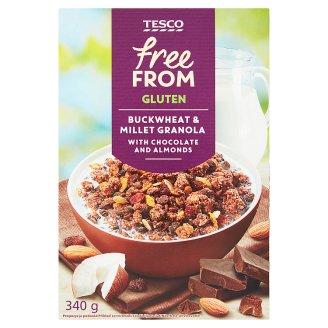 Tesco Free From gluténmentes müzli gabonafélékkel, csokoládédarabokkal, kókusszal, mandulával 340 g
