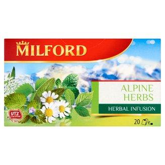 Milford Herbal Infusion Alpine Herbs Herbal Infusion Tea 20 Tea Bags 40 g