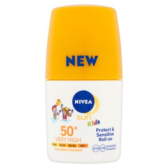 NIVEA SUN Protect & Sensitive gyermek golyós naptej FF50+ 50 ml
