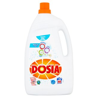 Dosia Multi Gel Liquid Detergent for White Clothes 60 Washes 3 l