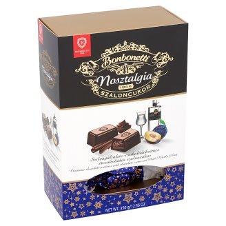 Bonbonetti Nosztalgia szilvapálinkás-csokoládékrémes étcsokoládés szaloncukor 350 g