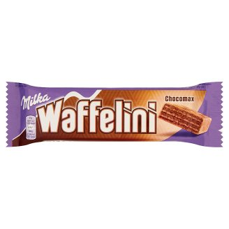 Milka Waffelini Chocomax Alpine Milk Chocolate Covered Cocoa Wafer Filled with Cocoa Cream 31 g