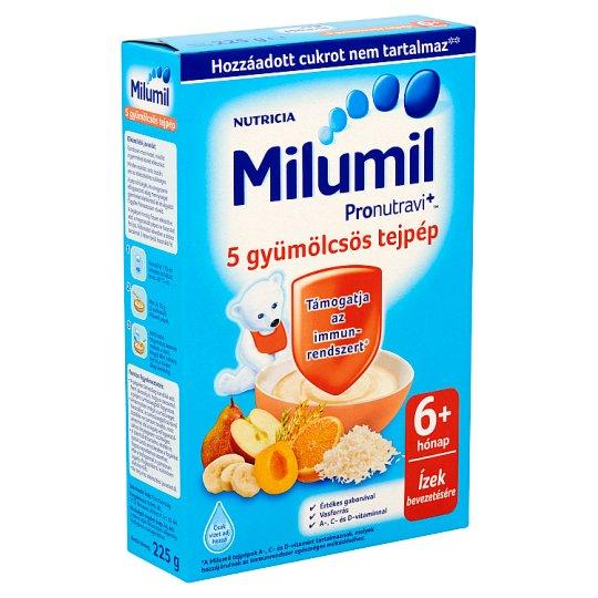Milumil 5-Fruit Milk Pulp 6+ Months 225 g