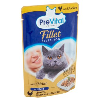 PreVital Complete Food for Adult Cats with Chicken in Gravy 85 g