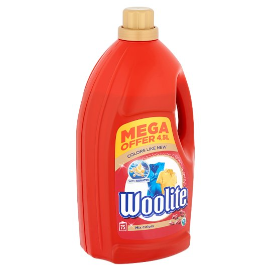 Woolite Mix Colors Color Liquid Detergent for Coloured Clothes 75 Washes 4,5 l
