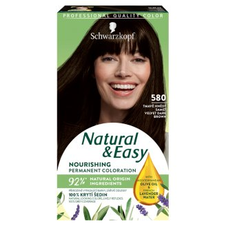 Schwarzkopf Natural & Easy 580 Dark Brown Velvet Permanent Hair Colorant