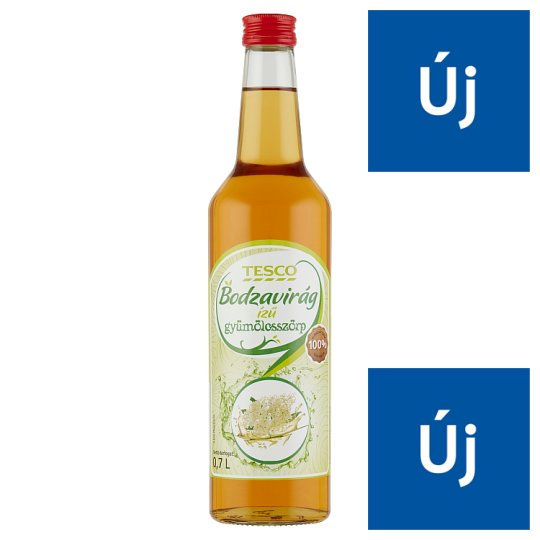 Tesco Elderflower Flavoured Fruit Syrup 0,7 l