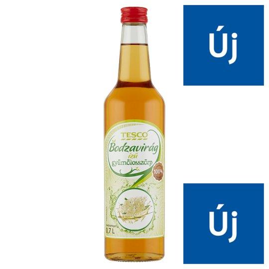 Tesco bodzavirág ízű gyümölcsszörp 0,7 l