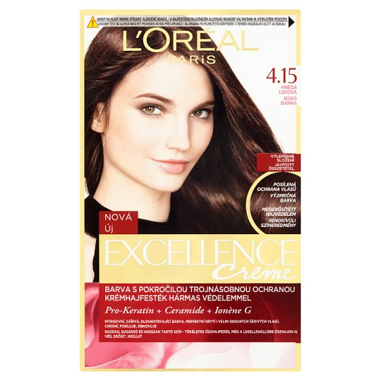 image 1 of L'Oréal Paris Excellence Creme 4.15 Icy Brown Permanent Hair Colorant