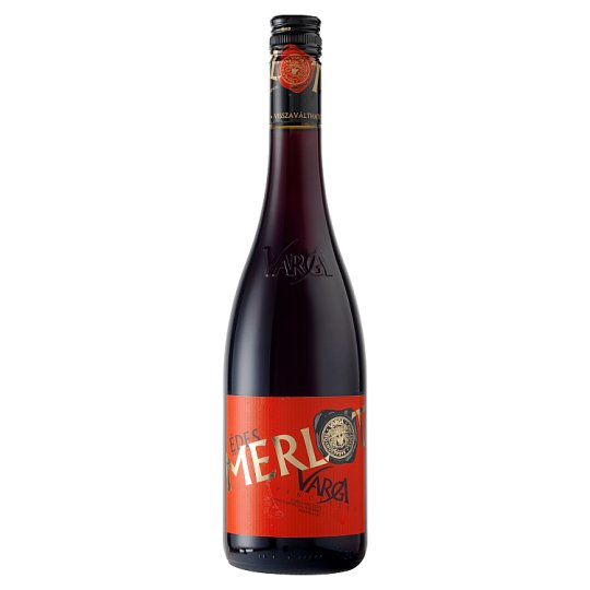 Varga Merlot Sweet Red Wine 10,5% 0,75 l