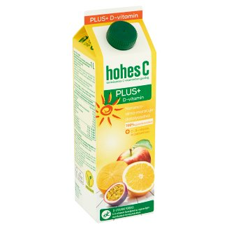 Hohes C Plus+ Vitamin D 100% Orange-Apple-Maracuja-Date Plum Mixed Fruit Juice 1 l