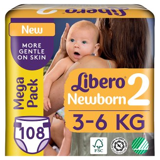 Libero Newborn 2 3-6 kg Premium Nappies 108 pcs