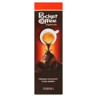 Pocket Coffee Espresso Chocolate and Milk Chocolate Praline Filled with Liquid Coffee 5 pcs 62,5 g