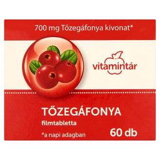 Vitamintár Tőzegáfonya filmtabletta 60 db 36,7 g