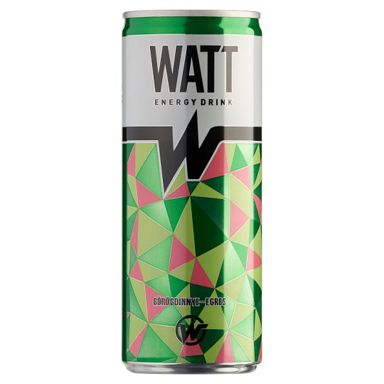 Watt Watermelon-Gooseberry Flavoured Carbonated Energy Drink with Caffeine and Vitamins 0,25 l
