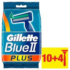 Gillette Blue II Plus Men's Disposable Razors – 14 Pack