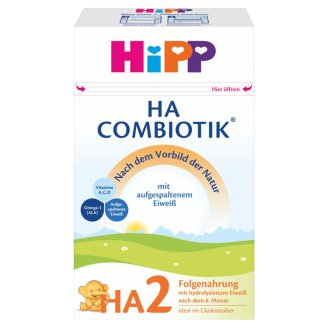 Hipp HA 2 Combiotik Hydrolysed Protein Content Breast-Milk Supplement 6+ Months 500 g